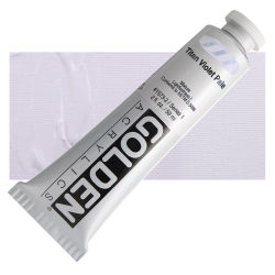 Golden Heavy Body Artist Acrylics - Titan Violet Pale, 2 oz