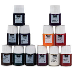 Pebeo Vitrea 160 Glass Paint - Set of 12 Colors, 20 ml bottles
