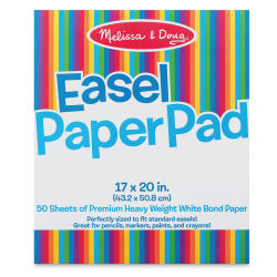 "Melissa & Doug Easel Paper Pad - 17"" x 20"", Top-Bound, 50 Sheets"