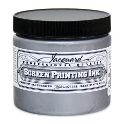 Jacquard Screen Printing Ink - Silver (Metallic), 16 oz