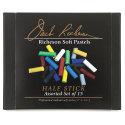 Richeson Handmade Half-Size Medium-Soft Pastel Set - Assorted Colors, Set of 15