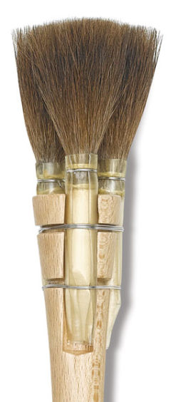 Da Vinci Triple Squirrel Brush - Square-Edged, Size 2