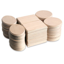 Mini Wood Plaque Assortment - Set of 72