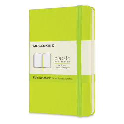 "Moleskine Classic Hardcover Notebook - Light Green, Blank, 5-1/2"" x 3-1/2"""