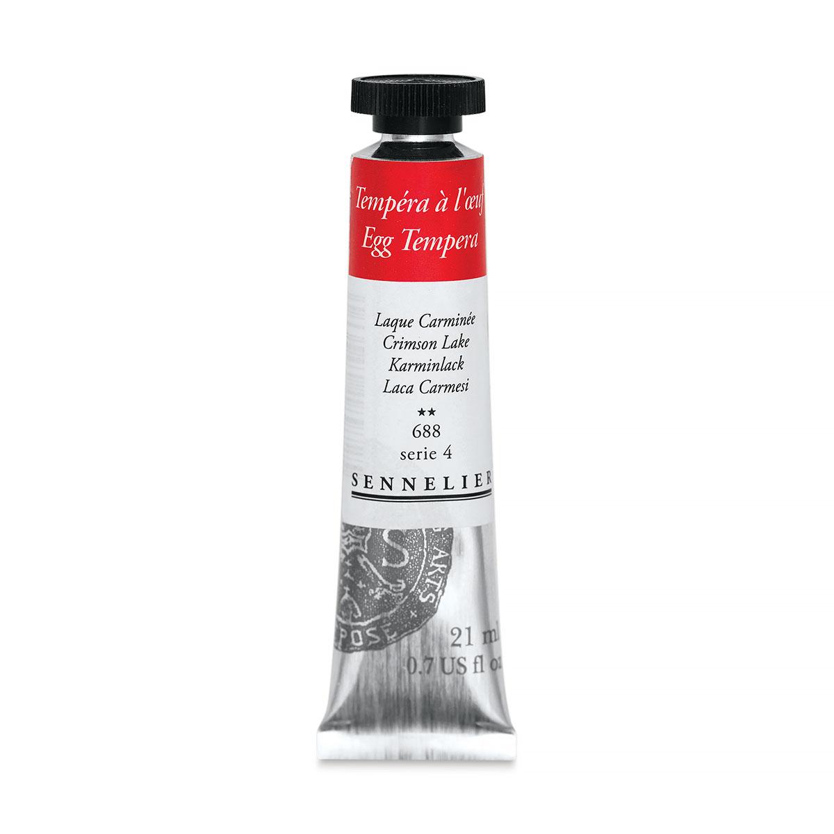 Sennelier Artists Egg Tempera - Crimson Lake, 21 ml tube