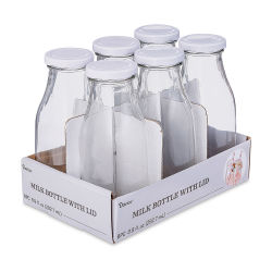 Darice Glass Milk Bottles