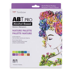 Tombow ABT Pro Alcohol Markers - Nature Colors, Set of 12