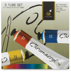 Chromacryl Students' Acrylics - Set of 5 Colors, 2.5 oz tubes