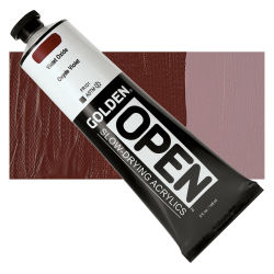 Golden Open Acrylics - Violet Oxide, 5 oz Tube with Swatch