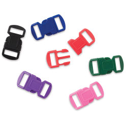 John Bead Craft Paracord Buckles - Assorted Colors, 12 mm, Set of 6