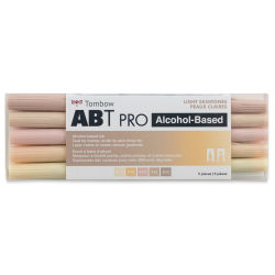 Tombow ABT PRO Alcohol Markers - Light Skin Tones, Set of 5