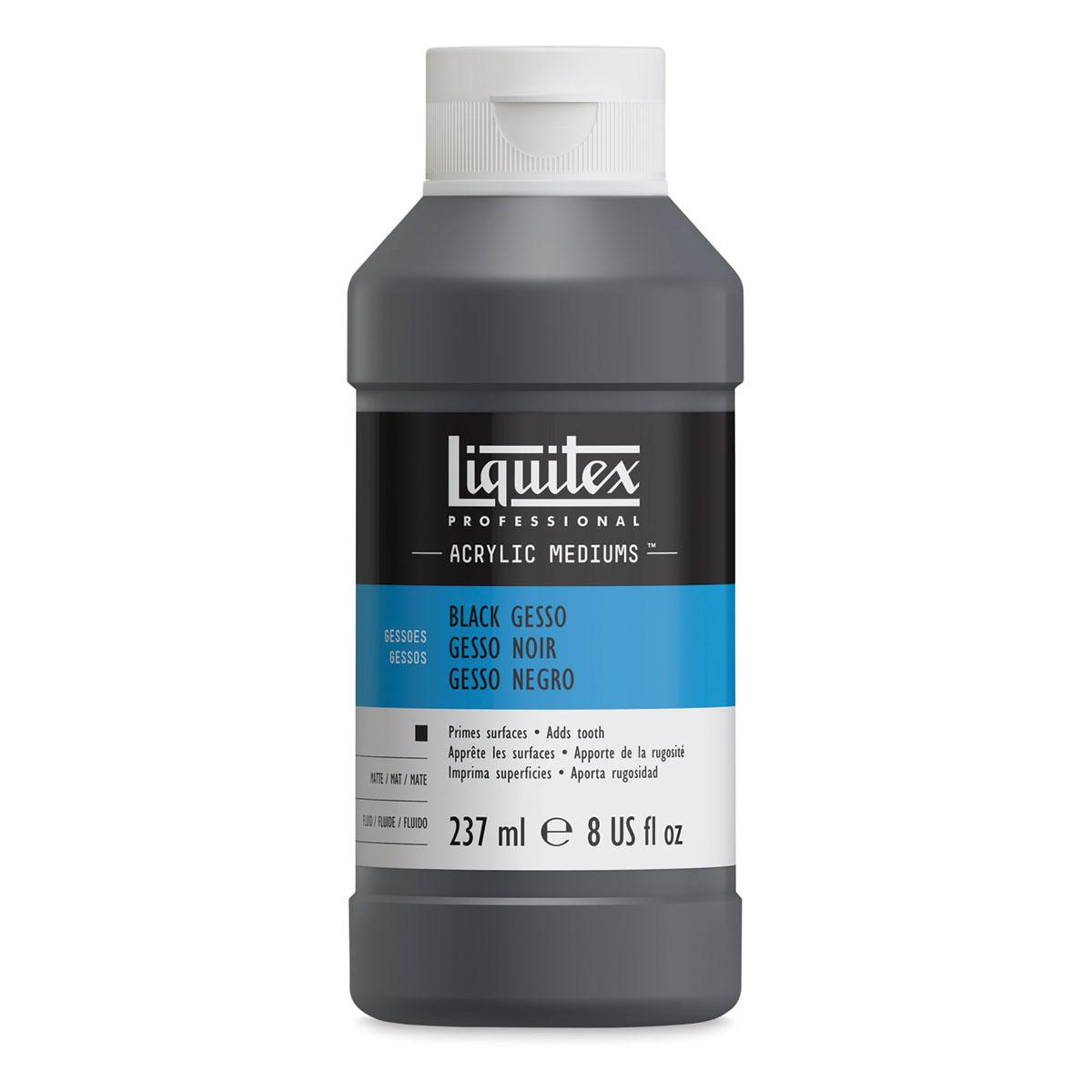 Liquitex Acrylic Gesso - Black, 8 oz bottle