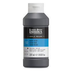 Liquitex Acryli Gesso-Black 8oz. Front of bottle.