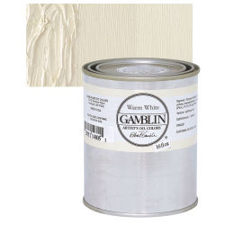 Gamblin Artists' Oil Color - Warm White, 16 oz can