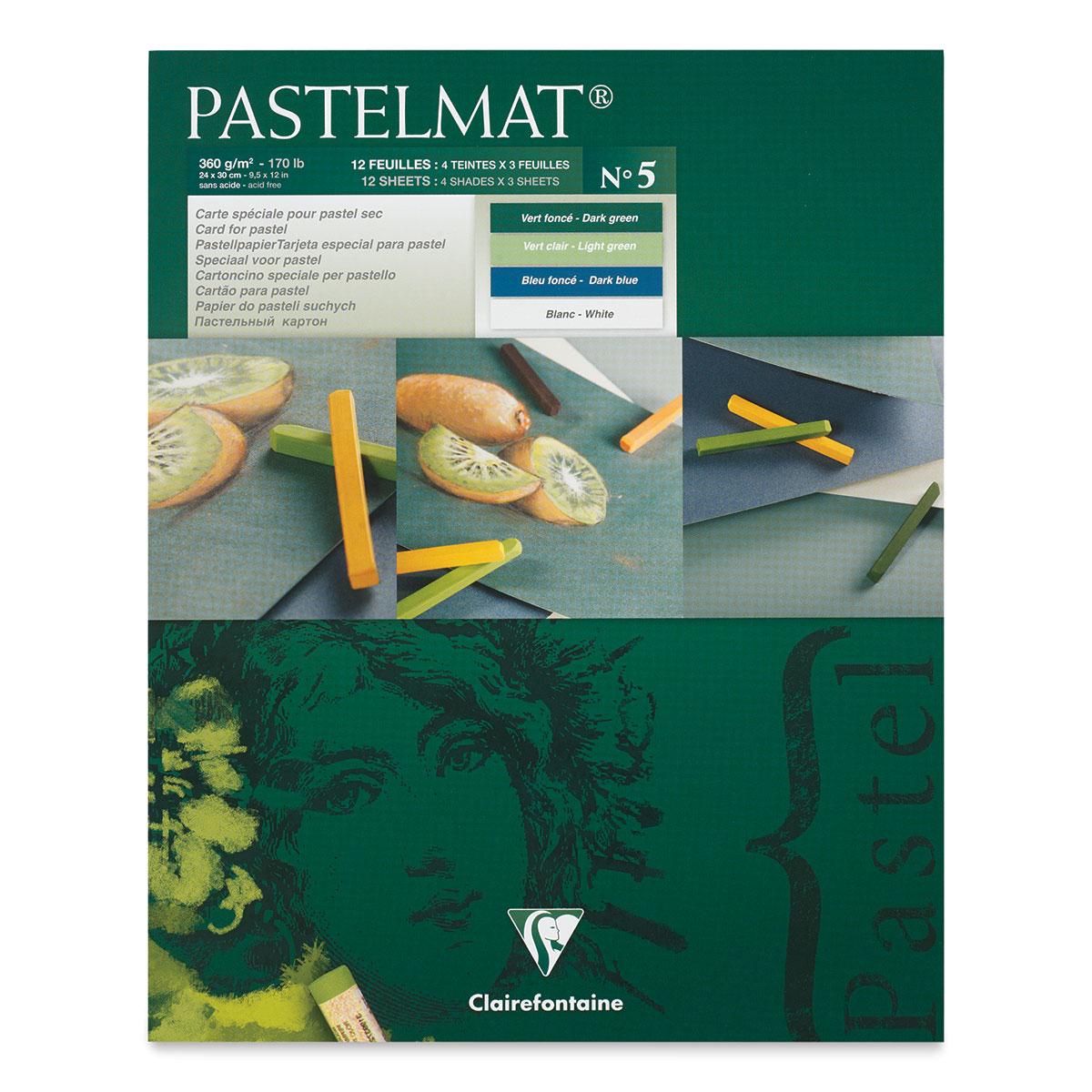 Clairefontaine Pastelmat Pastel Card Pad No 2 12 Sheets,... 360 g 24 x 30 cm
