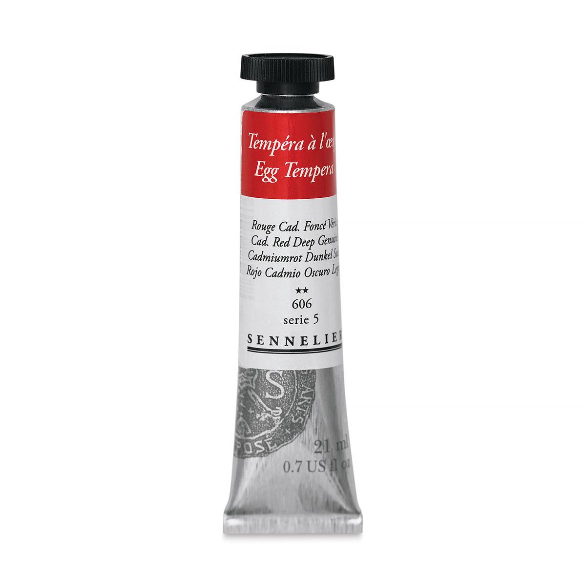Sennelier Artists Egg Tempera - Cadmium Red Deep Genuine, 21 ml tube