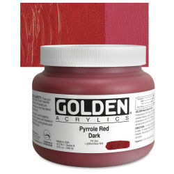 Golden Heavy Body Artist Acrylics - Pyrrole Red Dark, 32 oz Jar