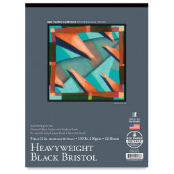 Bee Paper Heavyweight Black Bristol Pads
