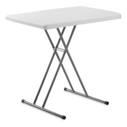 "National Public Seating Commercialine Personal Table - 20""x 30"", Speckled Grey"