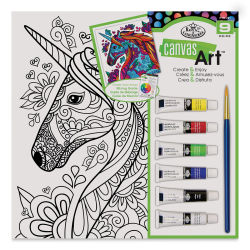 Royal & Langnickel Canvas Art Painting Kit - Unicorn, 10'' x 10''