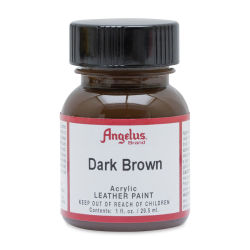 Angelus Acrylic Leather Paint - Dark Brown, 1 oz, Bottle