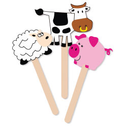 Krafty Kids DIY Foam Fun Stick Puppets - Barnyard Animals