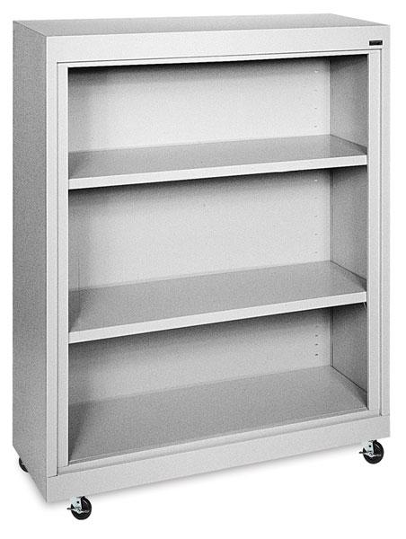 Sandusky Lee Mobile Bookcase - 36 x 48 x 18, Dove Gray