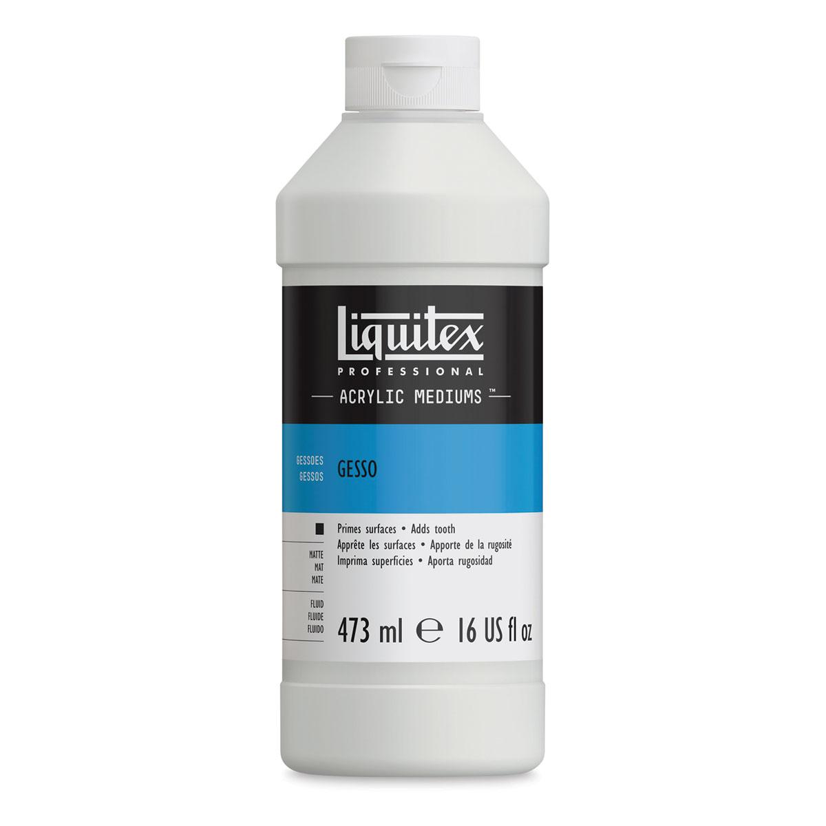 Liquitex Acrylic Gesso - White, 16 oz bottle