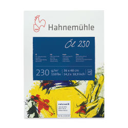 Hahnemühle Oil and Acrylic Paper Pad - 14'' x 19'', 110 lb (230 gsm), 10 Sheets