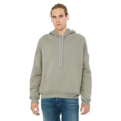 Bella + Canvas Unisex Sponge Fleece Drop Shoulder Sweatshirt - Stone Heather, Large