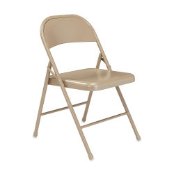 National Public Seating Commercialine Folding Chair - Beige, Set of 4
