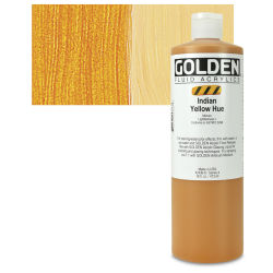 Golden Fluid Acrylics - Indian Yellow Historical Hue, 16 oz bottle