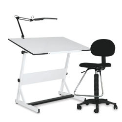 Contemporary Drafting Set - Includes Table, Chair, and Lamp