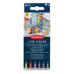 Derwent Line Makers - Assorted Colors, Set of 6