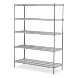 Design Ideas MeshWorks Shelving Units - Silver, 5-Tier