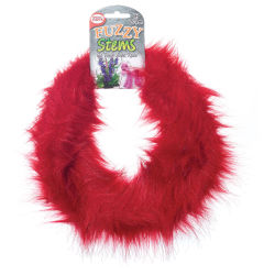Pepperell Craft Fuzzy Stems  - Red, 9 ft