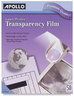 Transparency Film, Pkg of 50 Sheets