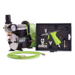 Grex Airbrush Combo Kit - Tritium Gravity Feed Airbrush (Shown out of packaging.)