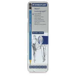 Staedtler Lumograph Drawing and Sketching Pencils - Set of 6, Assorted Hardness. In package