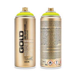 Montana Gold Acrylic Professional Spray Paint - Flash Yellow, 400 ml can