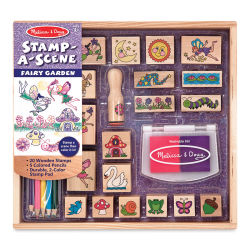 Melissa & Doug Stamp Set - Stamp-a-Scene Fairy Garden Stamp Set