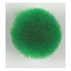 Acrylic Pom Pons - Pkg of 100, 1/2'', Kelly Green