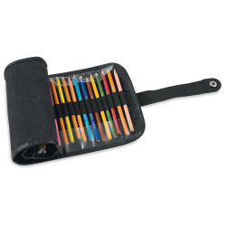 Global Roll Up Pencil Case - Case for 36, Black