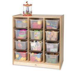 Whitney Brothers 12-Cubby Storage Cabinet - Plastic bins not included