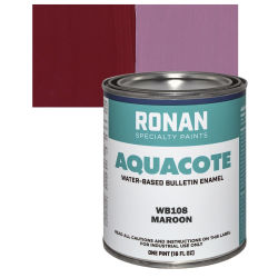 Ronan Aquacote Water-Based Acrylic Color - Maroon, Pint