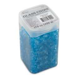 Darice Glass Chips - Blue, 500 g
