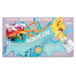 Holbein Duo Aqua Water Soluble Oils - Elite Color Set, Set of 12 colors, 20 ml tubes