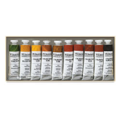 Williamsburg Handmade Oil Paints - Native Italian Earths Set, Set of 10 colors, 40 ml tubes