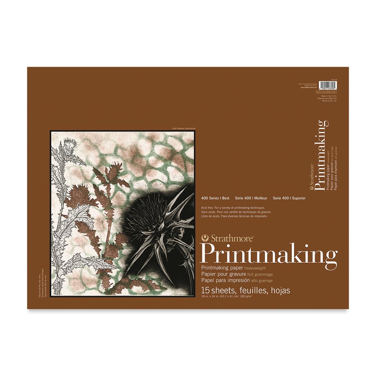 Strathmore 400 Series Printmaking Paper - 18 x 24, 15 Sheets