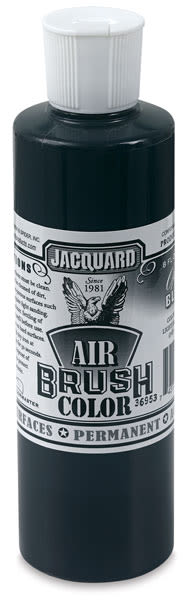 Jacquard Airbrush Paint - 8 oz, Opaque Black